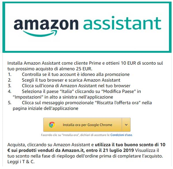 Amazon Assistant per Chrome