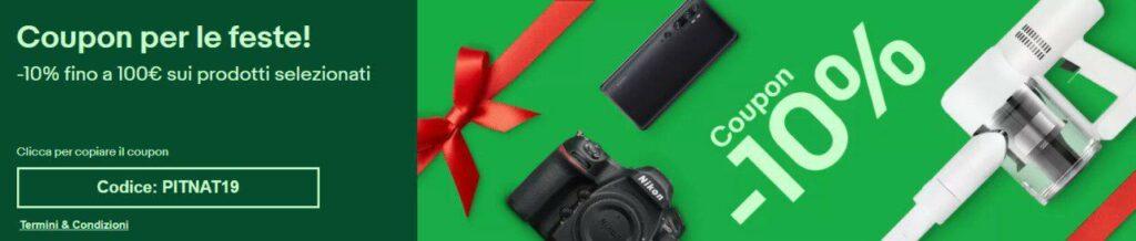 Immagine promo eBay 10% di sconto per le festività natalizie!