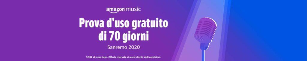 Promozione Amazon Music Unlimited 70 giorni gratis banner promozionale