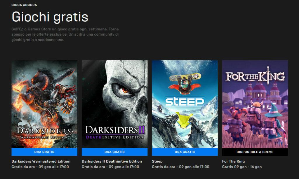 Vetrina Epic Games Store sui tre giochi gratis per pochi giorni!