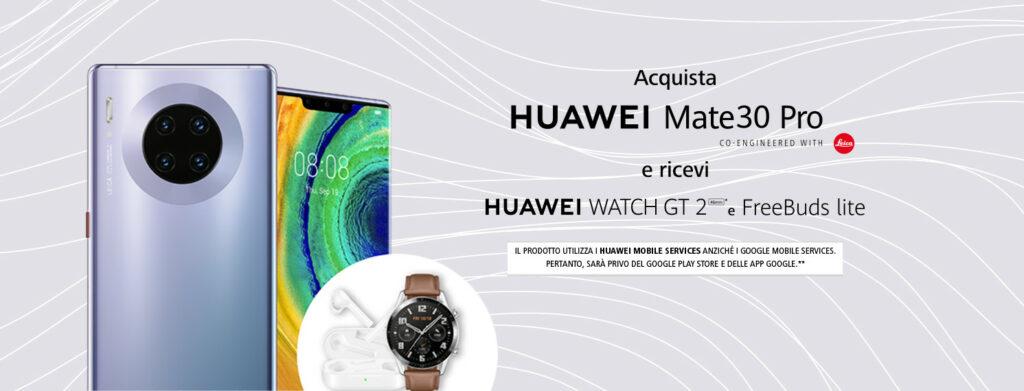 Banner secondo Promozione Huawei Mate30 Pro