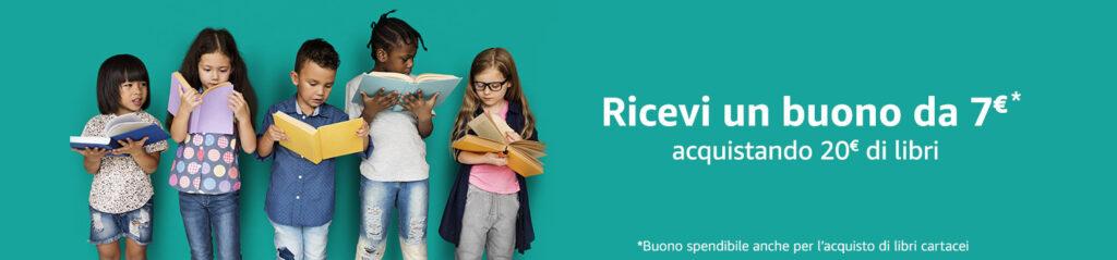 Banner Buono Amazon 7 euro Festa del libro