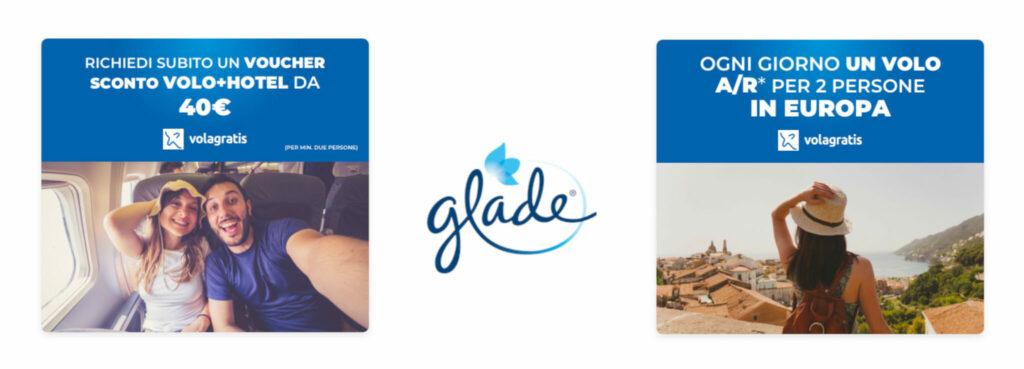 Banner esplicativo dei premi del concorso Partiamo insieme con Glade