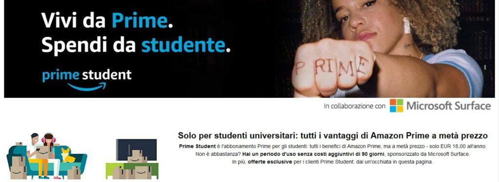 Amazon Prime Student screenshot pagina
