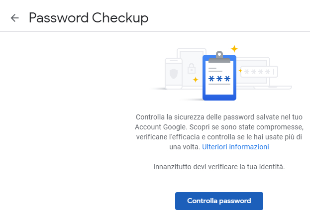verificare la sicurezza delle password