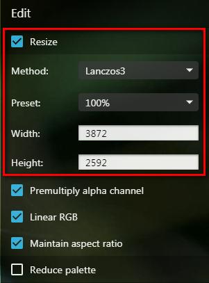 ridurre le dimensioni