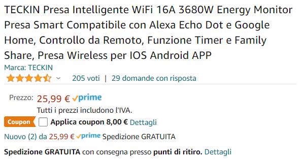 presa Wi-Fi offerta
